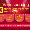 Vapesourcing 3周年セール!